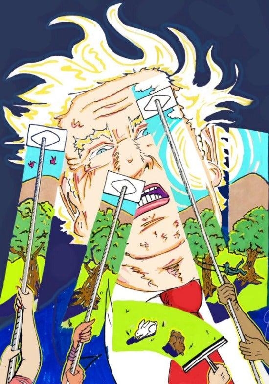 Jin Carrey artwork Trump