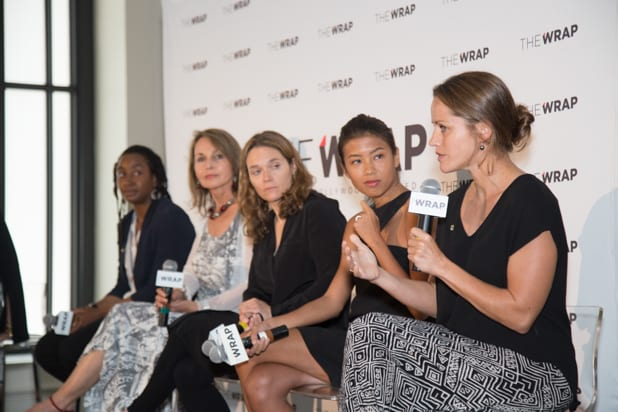 Jess Cramp, Hannah Reyes Morales, Erika Larsen, Asha Stuart, Beverly Joubert at Power Women Breakfast D.C., photographed by E. Brady Robinson for TheWrap