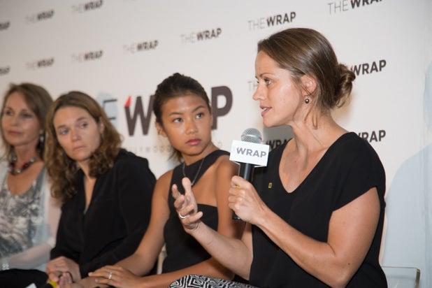 Jess Cramp, Hannah Reyes Morales, Erika Larsen, Beverly Joubert at Power Women Breakfast D.C., photographed by E. Brady Robinson for TheWrap