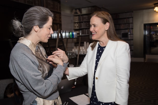 Michele Flournoy and Guest at Power Women Breakfast DC