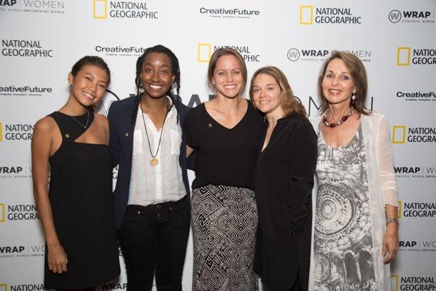 Hannah Reyes Morales, Asha Stuart, Jess Cramp, Erika Larsen and Beverly Joubert, Power Women Breakfast D.C.