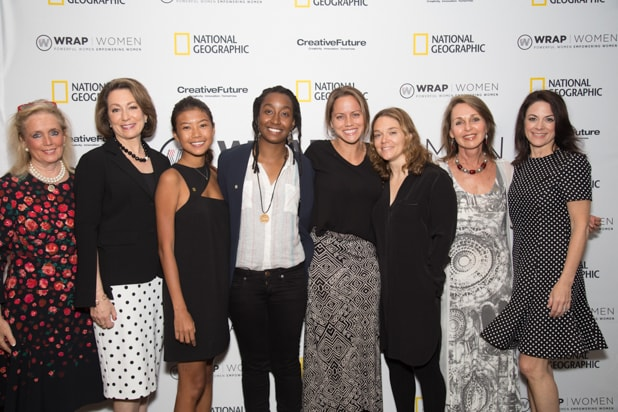 Debbie Dingell, Susan Goldberg, Hannah Reyes Morales, Asha Stuart, Jess Cramp, Erika Larsen and Beverly Joubert, Power Women Breakfast D.C.