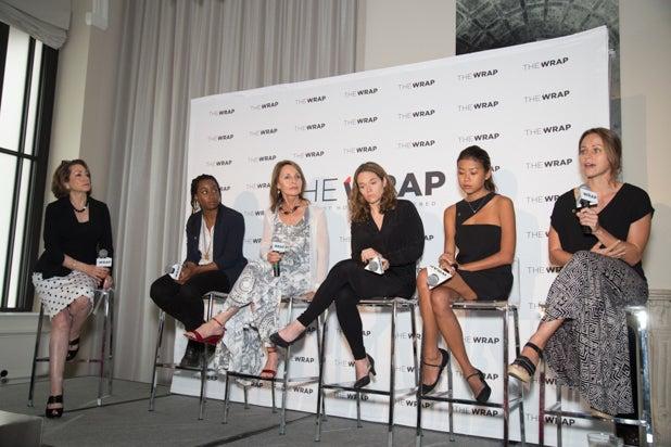 Jess Cramp, Beverly Joubert, Erika Larsen, Hannah Reyes Morales, Asha Stuart, & Susan Goldberg at the Power Women Breakfast DC