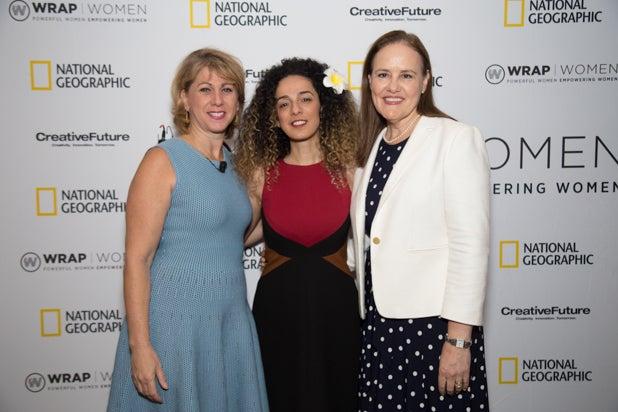 Sharon Waxman, Masih Alinejad, & Michele Flournoy, Power Women Breakfast, photographed by E. Brady Robinson for TheWrap