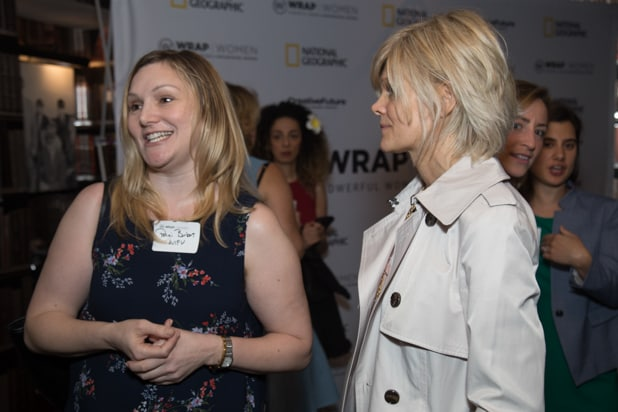Penni Berbert & Tami Wahl at Power Women Breakfast, photographed by E. Brady Robinson for TheWrap