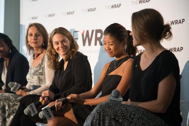 Asha Stuart, Beverly Joubert, Erika Larsen,Hannah Reyes Morales, and Jess Cramp, Power Women Breakfast D.C.