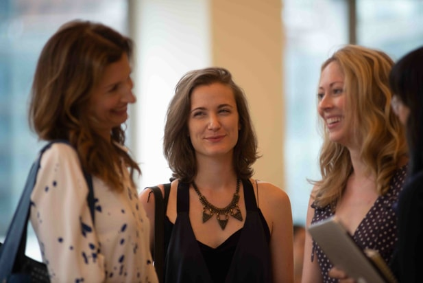 Alysia Reiner and Guests, Power Women Breakfast, NYC 2018
