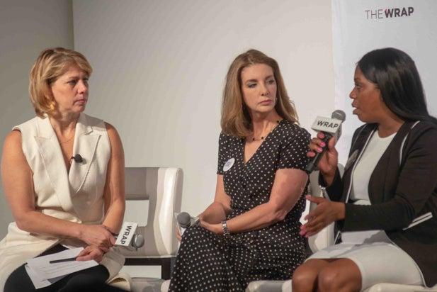 Sharon Waxman, Shannon Watts, and Shenee Johnson, Power Women Breakfast NY