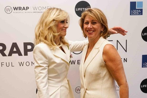 Judith Light and Sharon Waxman, Power Women Breakfast NY
