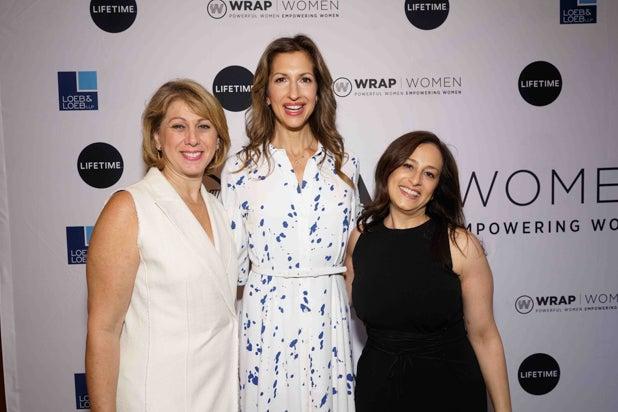 Sharon Waxman, Alysia Reiner and Jen Caserta, Power Women Breakfast, NYC 2018