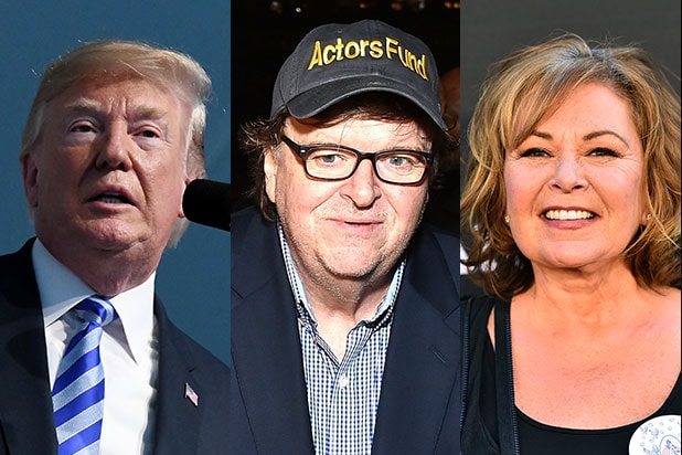 Roseanne Michael Moore Donald Trump