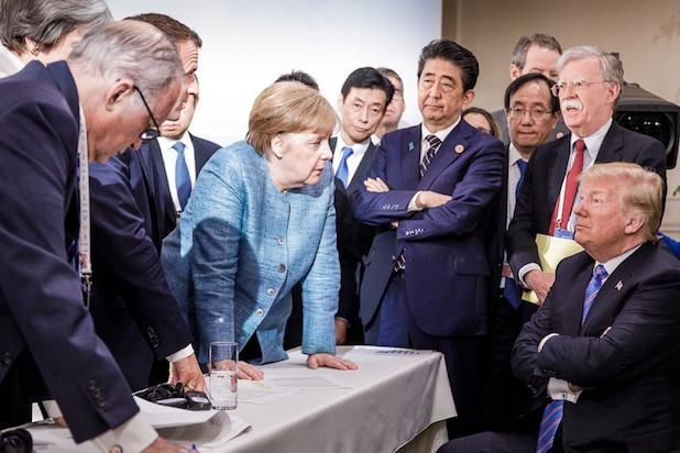 Angela Merkel Trump G7