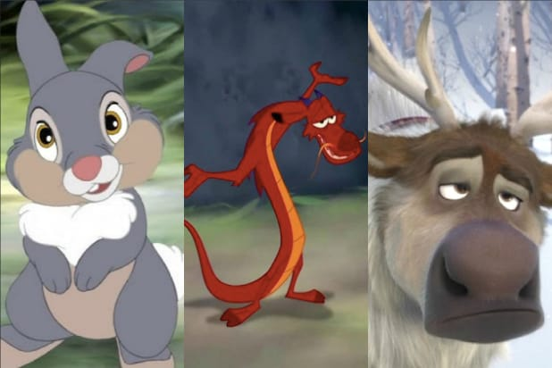 disney sidekicks mushu thumper frozen
