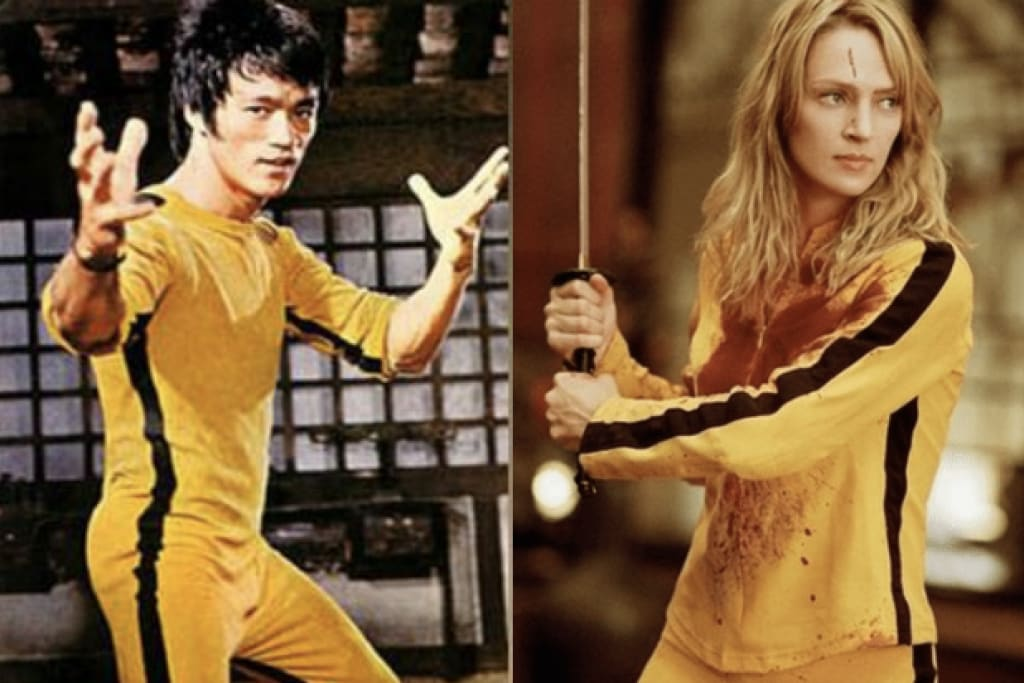 Bruce Lee yellow suit Uma Thurman kill bill