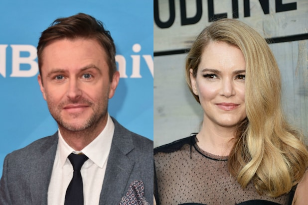 Jacinda Barrett Defends Ex Boyfriend Chris Hardwick Cautions