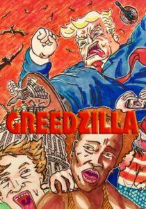 Jim Carrey artwork Trump greedzilla