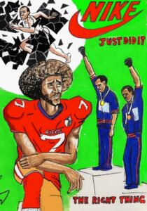 Jim Carrey artwork Colin Kaepernick Nike