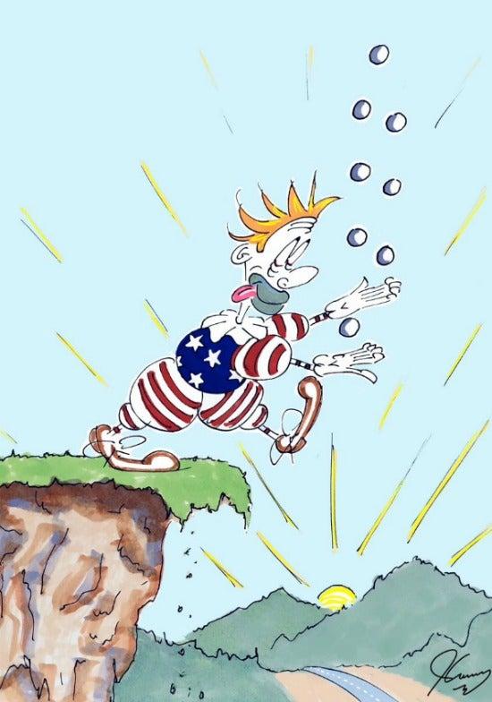 Jim Carrey artwork Trump