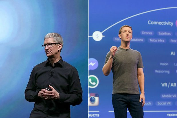 Mark Zuckerberg and Tim Cook