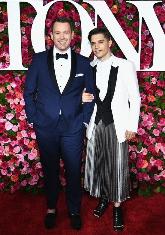 Michael Arden and Andy Mientus attend the 72nd Annual Tony Awards at Radio City Music Hall on June 10, 2018 in New York City