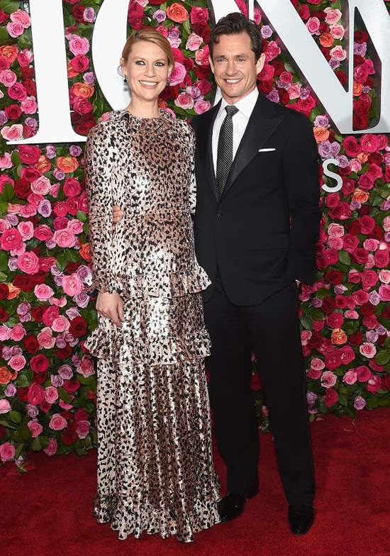 Claire Danes and Hugh Dancy attend the 72nd Annual Tony Awards at Radio City Music Hall