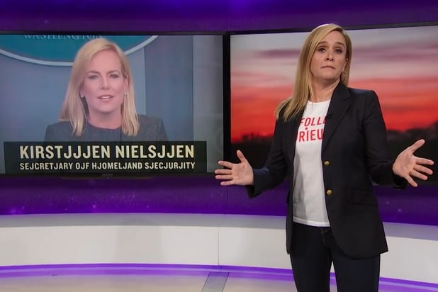 full frontal samantha bee immigrant kids baby jail kirstjen nielsen