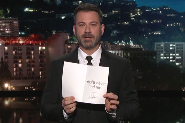 jimmy kimmel live donald trump birthday card from melania