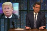 late night with seth meyers donald trump loves hanging out with dictators because they give him stuff