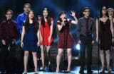Marjory Stoneman Douglas High School drama students perform onstage during the 72nd Annual Tony Awards at Radio City Music Hall on June 10, 2018 in New York City. (