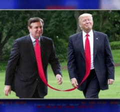 the late show with stephen colbert donald trump paul manafort sharing one very long tie