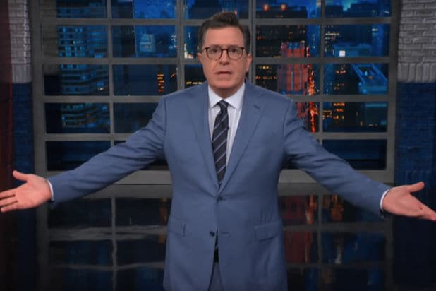5ea0c674005 Colbert Rips Melania s Jacket Choice   This Is One Message She Did Not  Steal From Michelle Obama  (Video)