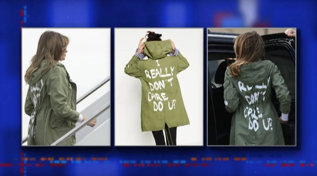 the late show with stephen colbert melania trump's jacket