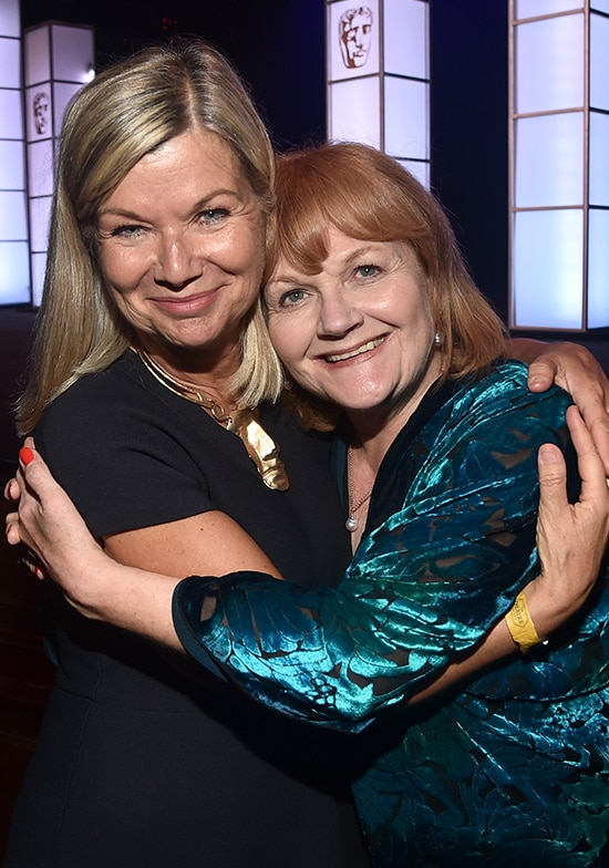 Chantal Rickards and actress Lesley Nicol attend the BAFTA Student Film Awards presented by Global Student Accommodation (GSA) on June 29, 2018 at the Ace Hotel