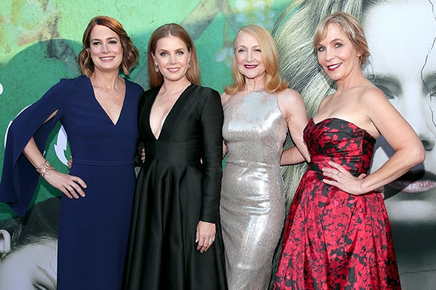 Executive Producer/Author Gillian Flynn, Amy Adams, Patricia Clarkson, and Executive Producer/Creator Marti Noxon