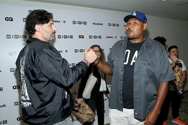 Joe Manganiello (L) and Omar Miller