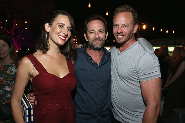 Erin Ludwig, Luke Perry and Ian Ziering