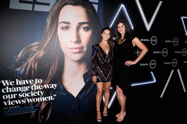 Aly Raisman Alison Overholt HEROES at the ESPYS