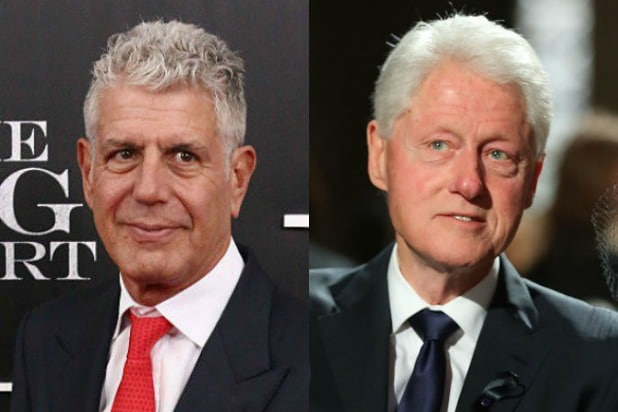 Anthony Bourdain Bill Clinton