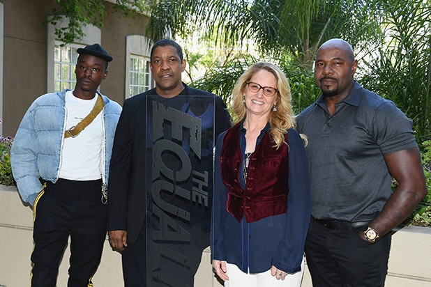 Ashton Sanders, Denzel Washington, Melissa Leo and Antoine Fuqua - Jon Kopaloff Four Seasons - Getty Images