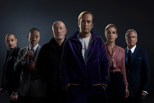 "Michael Mando as Nacho Varga, Giancarlo Esposito as Gustavo ""Gus"" Fring, Jonathan Banks as Mike Ehrmantraut, Bob Odenkirk as Jimmy McGill, Rhea Seehorn as Kim Wexler, Patrick Fabian as Howard Hamlin"