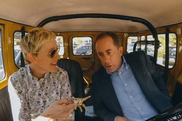 Ellen DeGeneres Jerry Seinfeld Comedians in Cars Getting Coffee