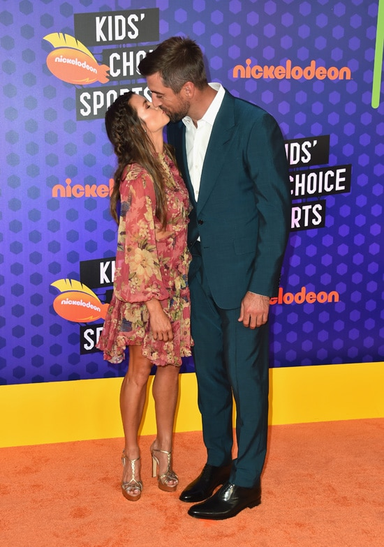 Danica Patrick Aaron Rodgers Nickelodeon Kids' Choice Sports 2018 - Arrivals