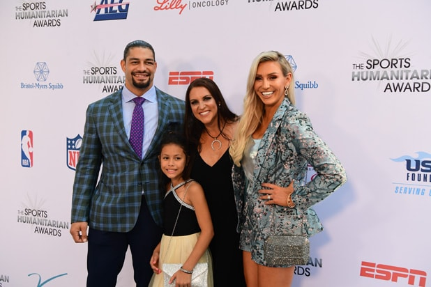 ESPN Humanitarian Awards Roman Reigns, Stephanie McMahon, Charlotte Flair .jpg