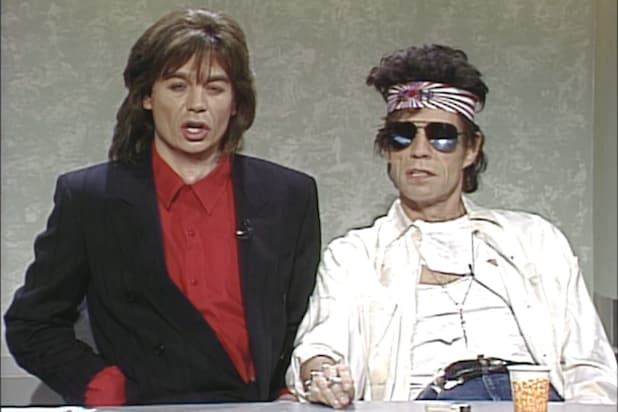 Mick Jagger Mike Myers SNL Weekend Update