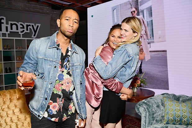 John Legend, Chrissy Teigen and Finery Co-Founder Brooklyn Decker