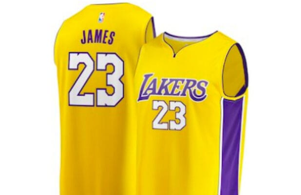 sports shoes ec3be 50201 Why You Can't Get a LeBron James LA Lakers Jersey This Week
