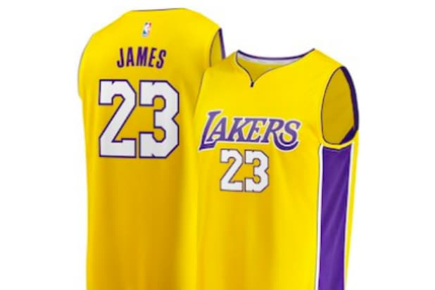 sports shoes b02fd 8a01a Why You Can't Get a LeBron James LA Lakers Jersey This Week