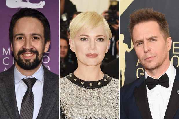 Lin Manuel Miranda Michelle Williams Sam Rockwell