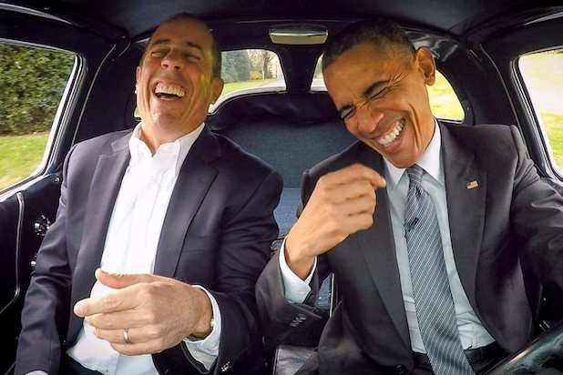 Obama comedians in cars