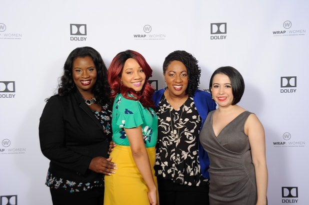 Farrah Allen, Bryanda Law, Cathryn Posey and Valeska Toro at Power Women Breakfast San Francisco